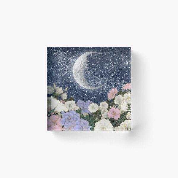 Moonlight in the Garden Acrylic Block