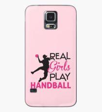 Funda/vinilo para Samsung Galaxy Chica real juega balonmano