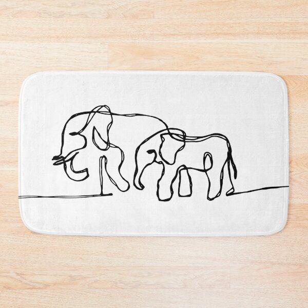 Elephant 01 Bath Mat