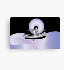 Midnight Moonlit Sail  Canvas Print