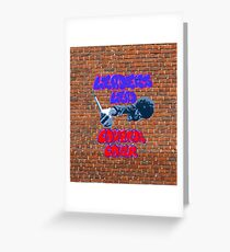 Netflix's The Get Down, Leaders Lead Cowards Cower Graffiti Brick Wall Greeting Card