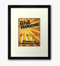 Fight To Repeal Obamacare Framed Print