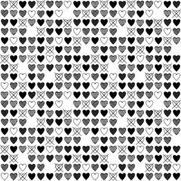 Sketch Hearts by PhantomKat813