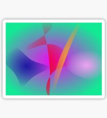 Hazy Green Colorful Abstract Art Sticker
