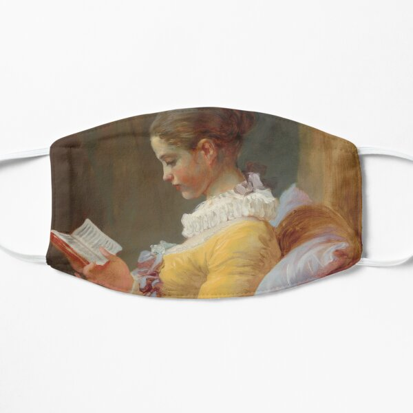 A Young Girl Reading Painting By Jean Honoré Fragonard Flat Mask