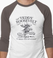 Teddy Roosevelt Bull Moose Party 1912 Presidential Campaign Men's Baseball ¾ T-Shirt