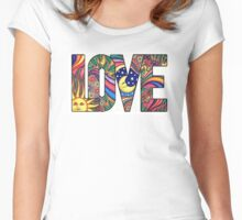 Hippie Style  LOVE Women's Fitted Scoop T-Shirt