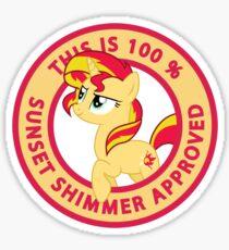 100% Sunset Shimmer Approved  Sticker