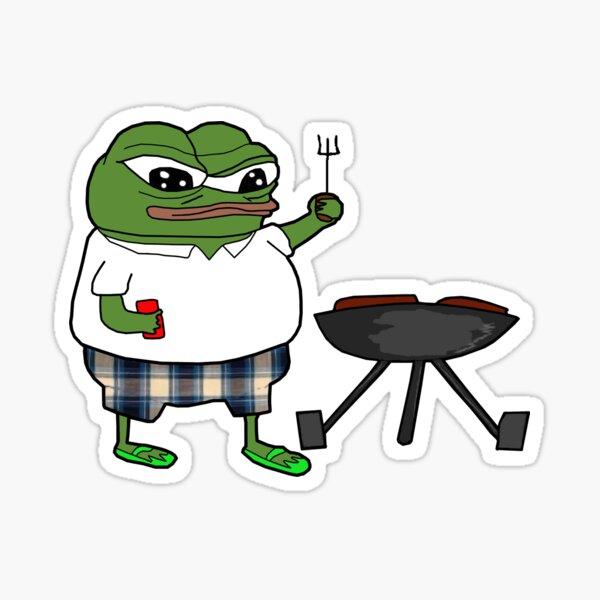 Rare Pepe Grilling Barbeque   Sticker