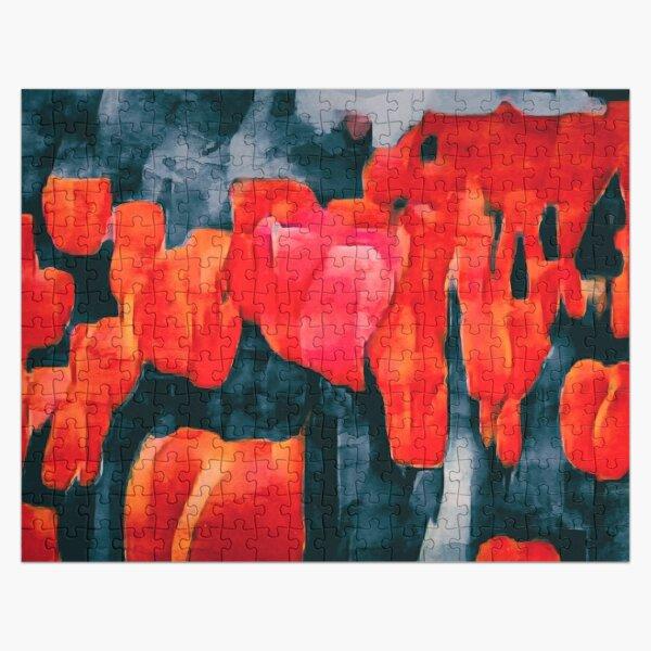 Tulip Field at Night Jigsaw Puzzle