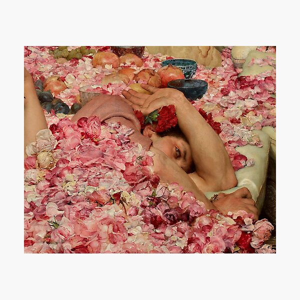 THE ROSES OF HELIOGABALUS (detail) - LAWRENCE ALMA-TADEMA Photographic Print