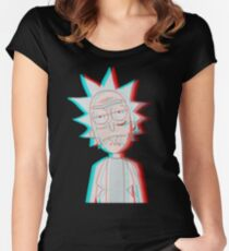 3D Rick Women's Fitted Scoop T-Shirt