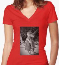 Little Helper Women's Fitted V-Neck T-Shirt