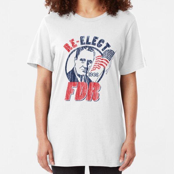 Franklin Delano Roosevelt for President 1936 Campaign Slim Fit T-Shirt