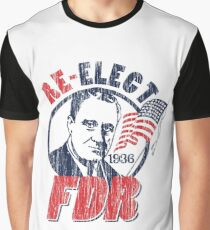 Franklin Delano Roosevelt for President 1936 Campaign Graphic T-Shirt
