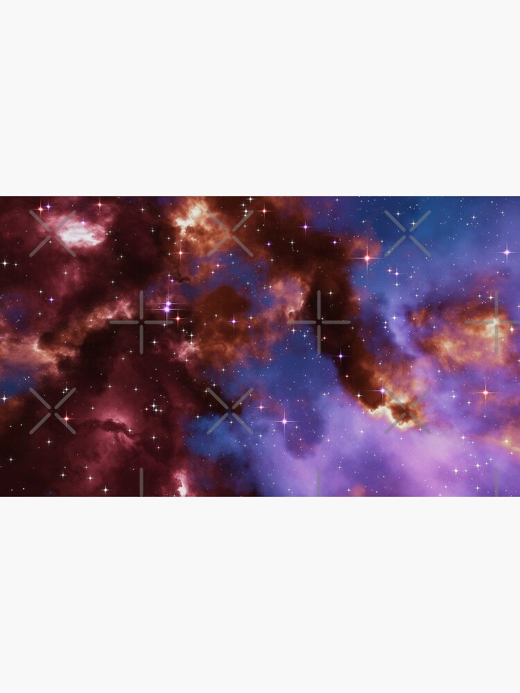 Fantasy nebula cosmos sky in space with stars (Red/Blue/Purple) by GaiaDC