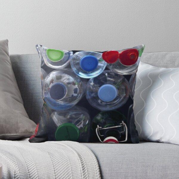 Bottle tops Throw Pillow