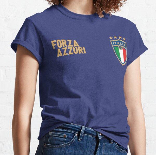 Italy Soccer Italia Flag Forza Azzurri Football Fan Classic T-Shirt
