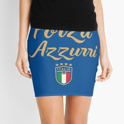 Forza Azzurri, Italia Jersey Soccer 2020 2021 Aficionado al fútbol italiano Italia Minifalda