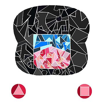 Garnet Stained Glass Gem by opiester
