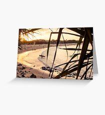 Longboard at Sunset Greeting Card