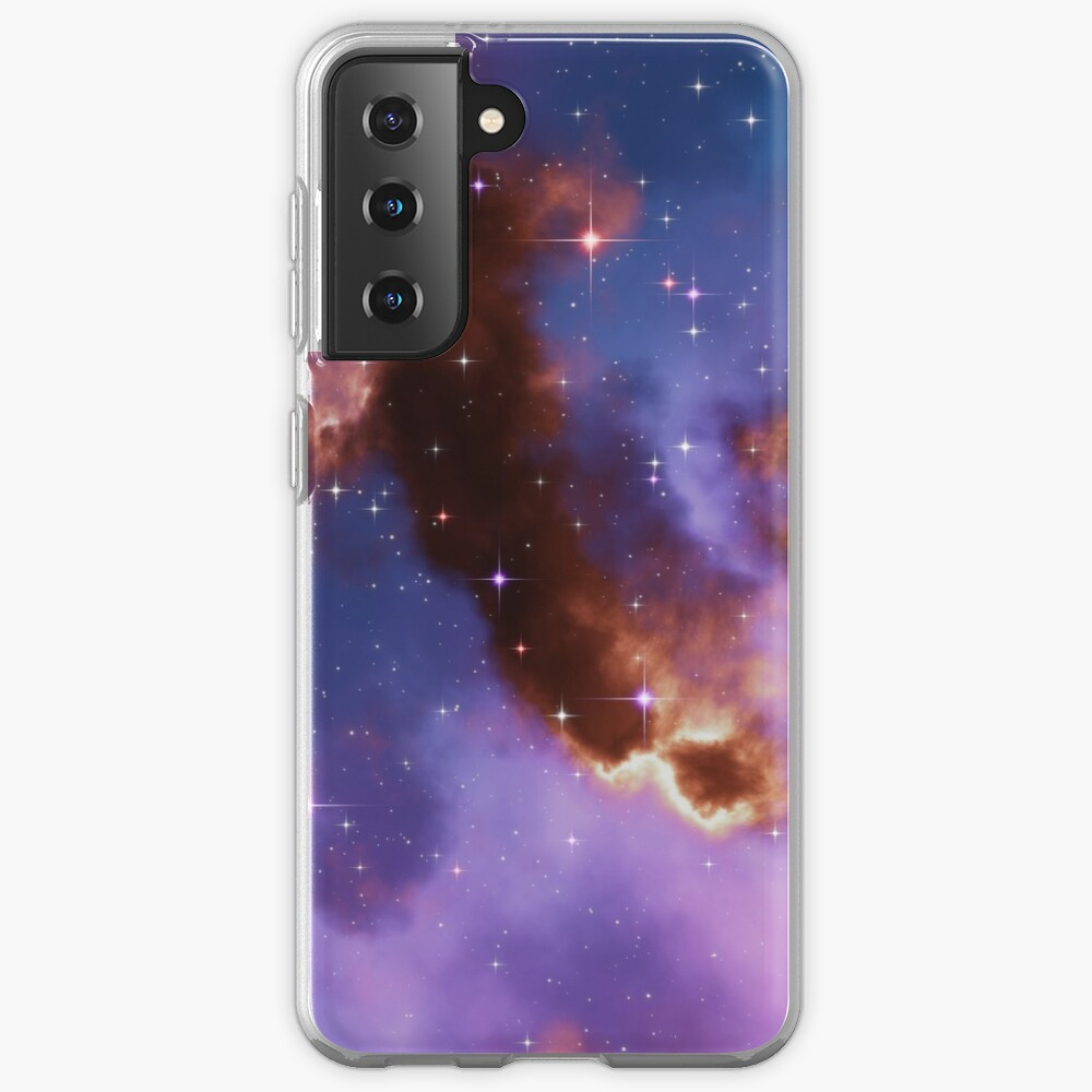 Fantasy nebula cosmos sky in space with stars (Red/Blue/Purple) Samsung Galaxy Phone Case