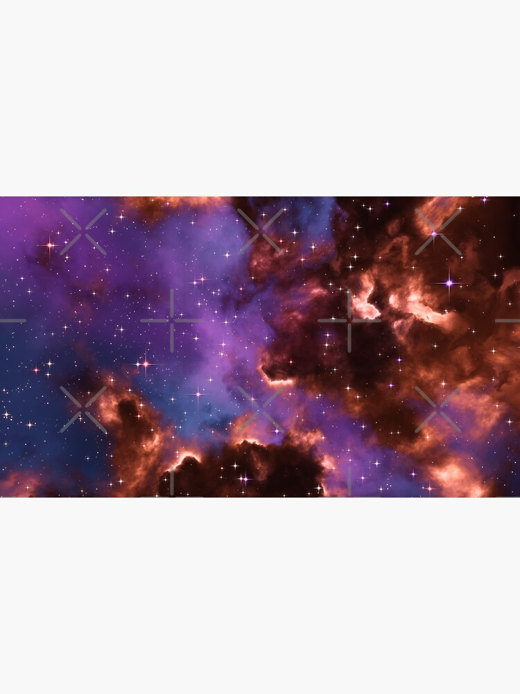 Fantasy nebula cosmos sky in space with stars (Red/Purple/Blue) by GaiaDC