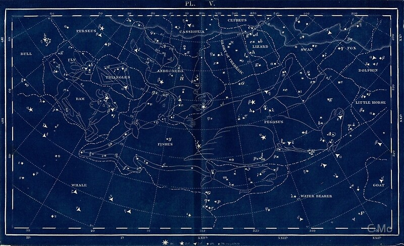 Vintage Star Chart Posters By C Mo  Redbubble