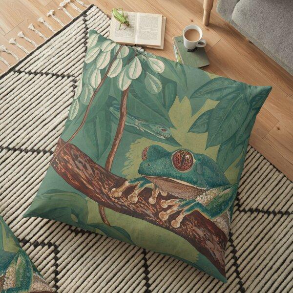 Orange-Eyed Tree Frog Floor Pillow