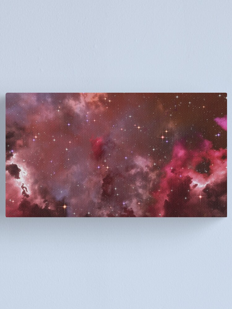 Alternate view of Fantasy nebula cosmos sky in space with stars (Purple/Pink/Magenta) Canvas Print