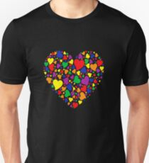 Rainbow Heart Unisex T-Shirt