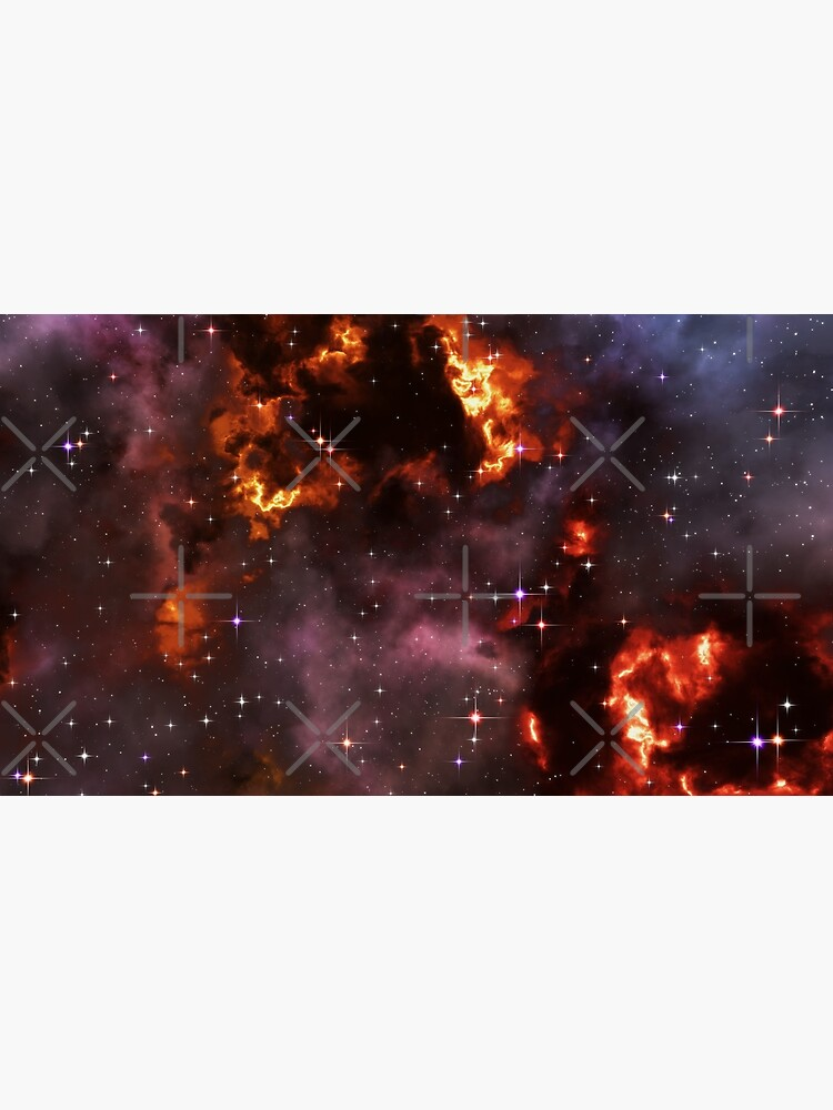 Fantasy nebula cosmos sky in space with stars (Purple/Yellow/Orange/Red) by GaiaDC