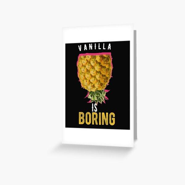 Upside Down Pineapple Funny Swinger Gift Greeting Card