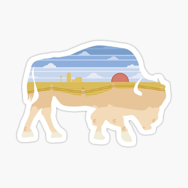 Sunset Buffalo Sticker