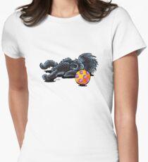 Sleepy Affenpinscher Womens Fitted T-Shirt