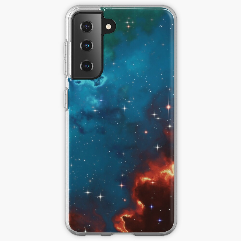Fantasy nebula cosmos sky in space with stars (Blue/Cyan/Green/Yellow/Orange/Red) Samsung Galaxy Phone Case