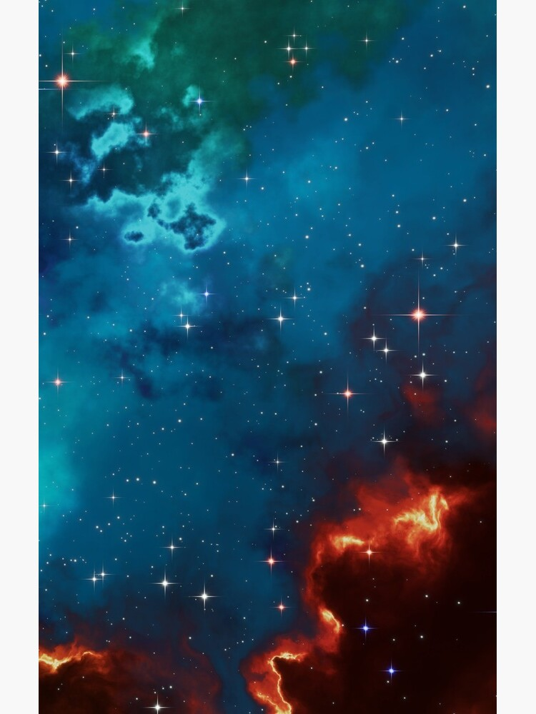 Fantasy nebula cosmos sky in space with stars (Blue/Cyan/Green/Yellow/Orange/Red) by GaiaDC