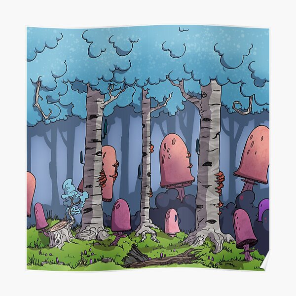 The Mushroom Forest Poster