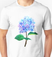 blue purple hydrangea T-Shirt