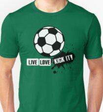 Live, Love, Kick it - Soccer T-Shirt