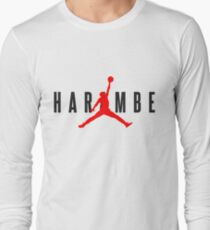 Harambe X Jordan Long Sleeve T-Shirt