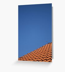 Roof Tiling Greeting Card