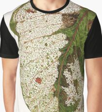 Decayed Gum Leaf Graphic T-Shirt