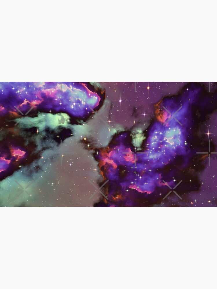 Fantasy nebula cosmos sky in space with stars (Purple/Cyan/Blue/Pink/Magenta) by GaiaDC