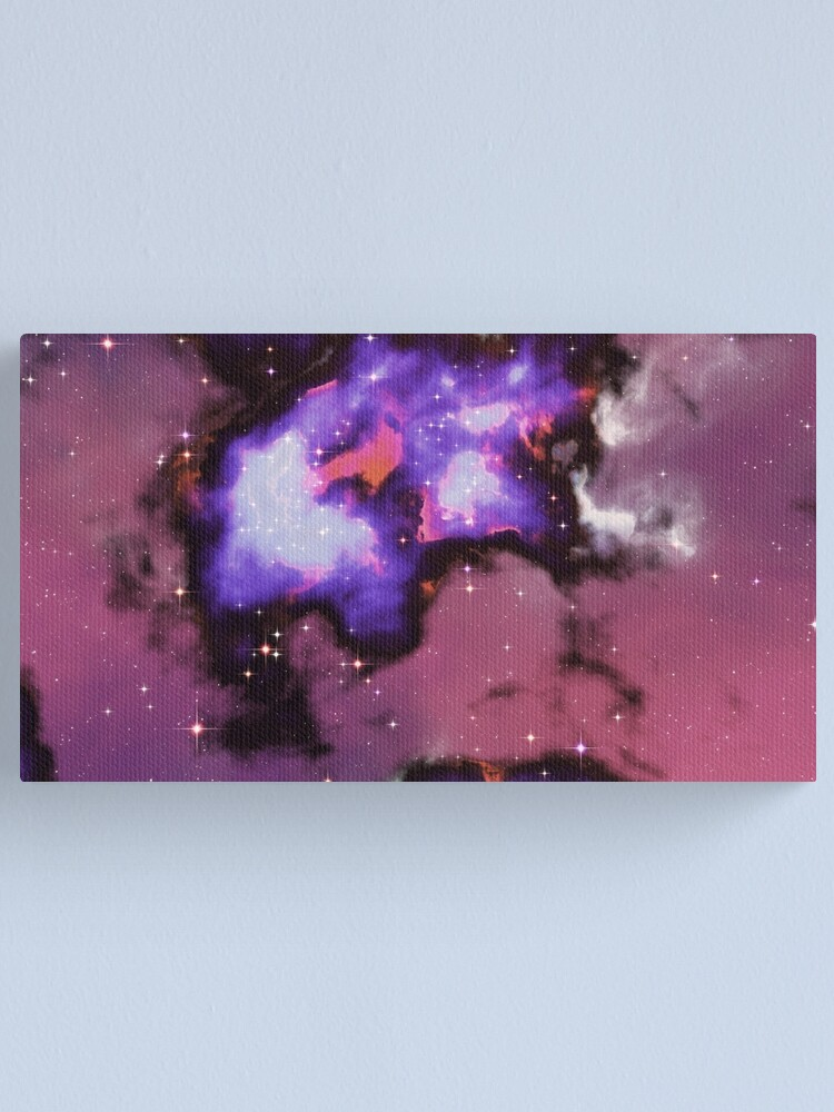 Alternate view of Fantasy nebula cosmos sky in space with stars (Purple/Blue/Magenta) Canvas Print