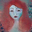 Poison Ivy fae portrait  by Zsuzsa Goodyer