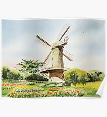 Dutch Windmill San Francisco Poster