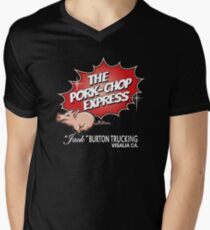 Pork Chop Express - Large Central Logo  Men's V-Neck T-Shirt