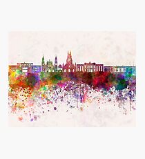 Bogota skyline in watercolor background v2 Photographic Print
