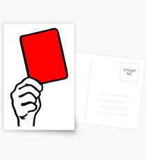 Foul - rote Karte Postkarten
